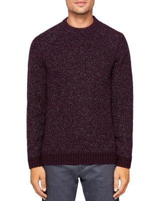 Ted Baker Teabery Striped-trims Knitted Jumper In Deep Purple