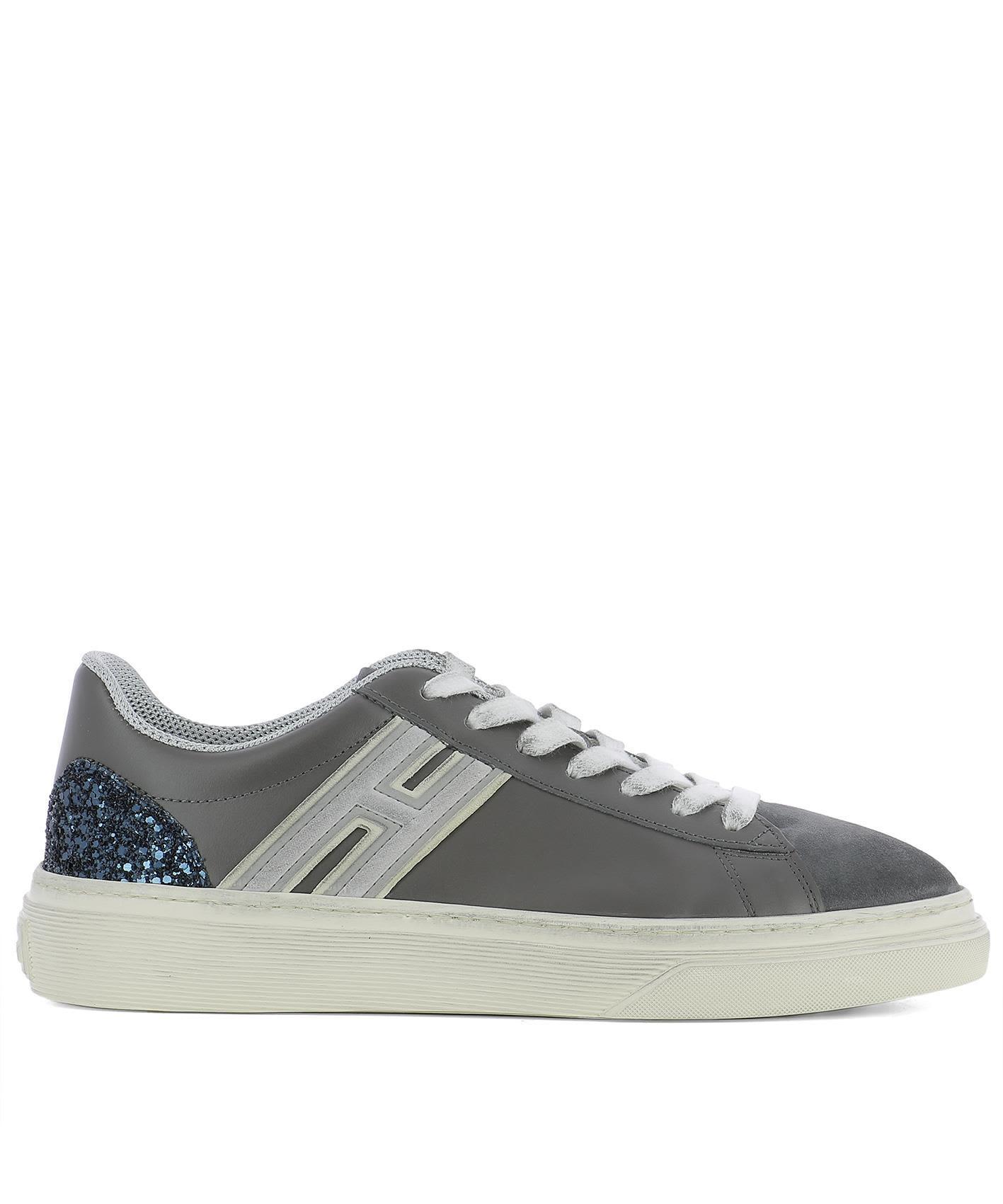 Hogan Grey Leather Sneakers
