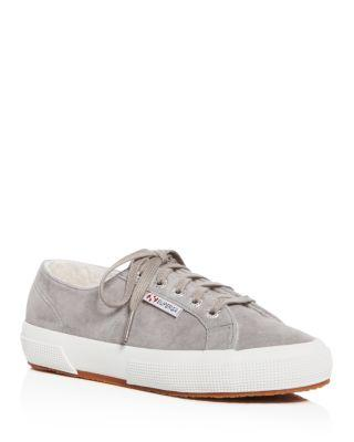 Superga Women's Classic Suede Lace Up Sneakers In Gray
