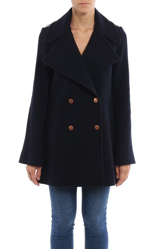 See By ChloÉ Double Chest Coat In Blue