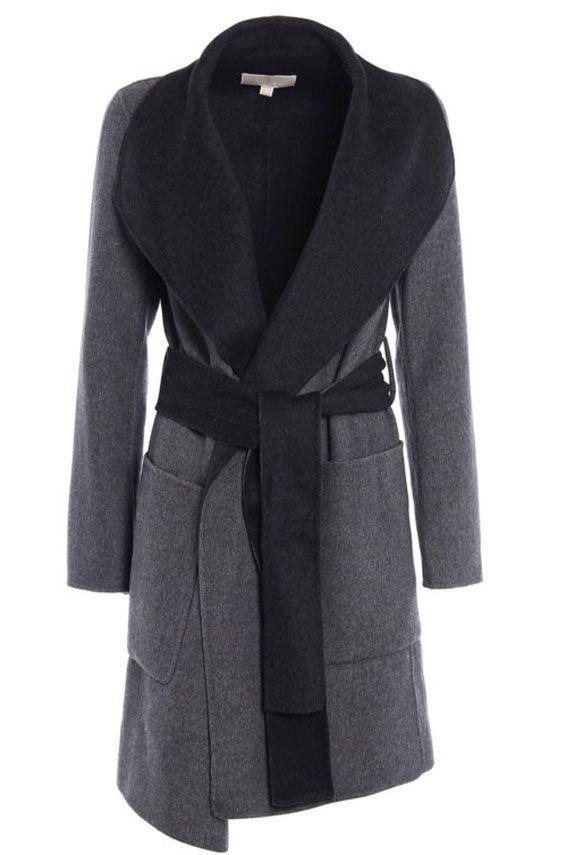 Michael Michael Kors Reversible Coat In Grey