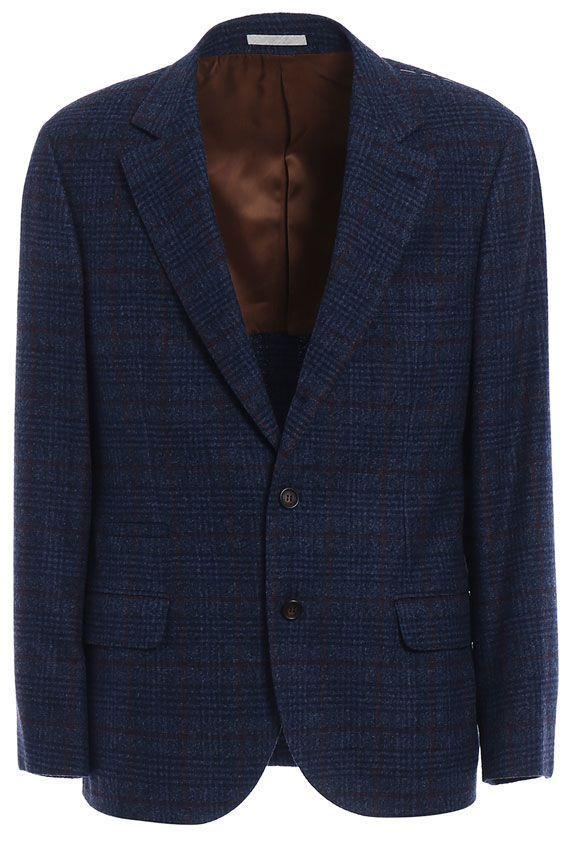 Brunello Cucinelli Woolen Jacket In Blue