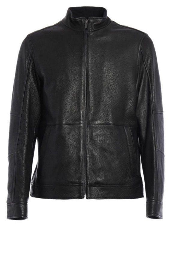 Michael Michael Kors Leather Jacket In Black