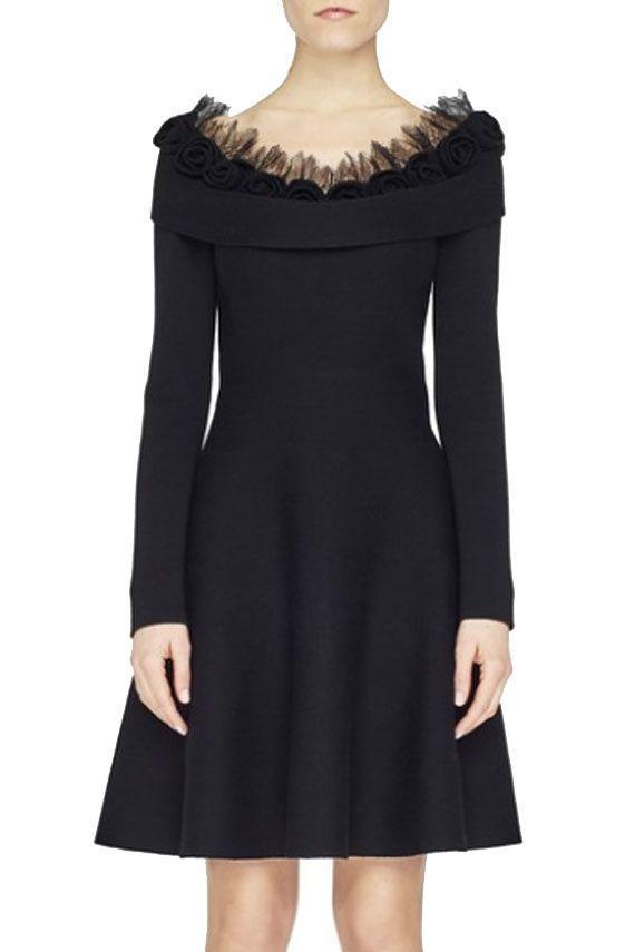 Blumarine Knitted Dress In Black