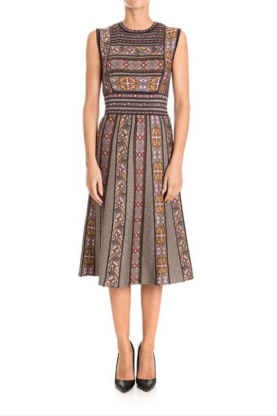 M Missoni Sleeveless Dress In Multicolor