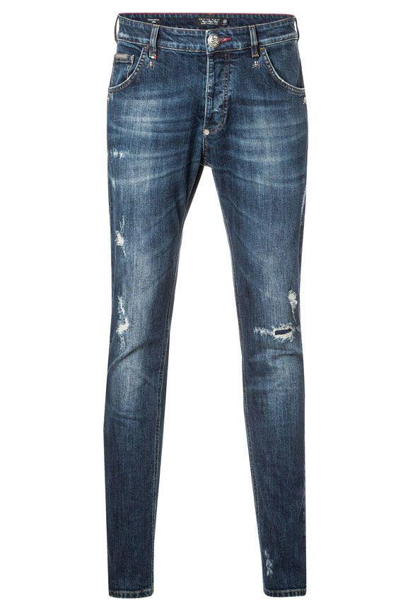 Philipp Plein Akio Jeans In Denim