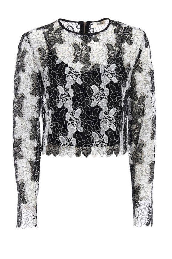 Diane Von Furstenberg Lace Knit In Black