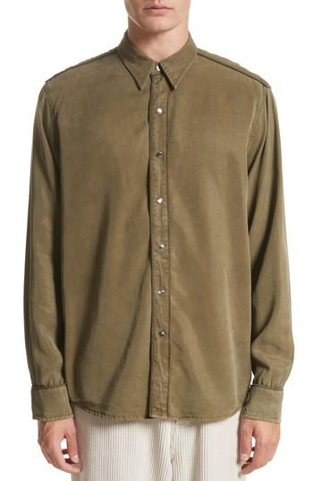 Our Legacy Lyocell Western Shirt In Green
