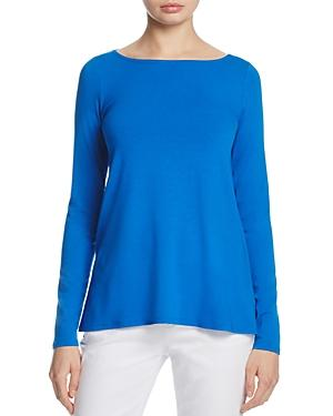 Eileen Fisher Boat Neck Top In Catalina