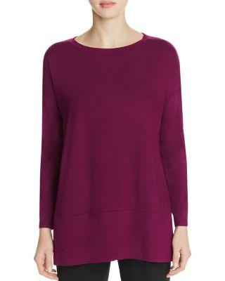 Eileen Fisher Drop Shoulder Tunic In Boysenberry