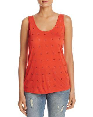 Kenneth Cole Hardware Embellished Tank In Cherry