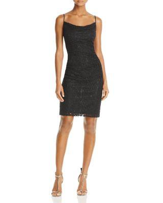 Laundry By Shelli Segal Shirred Lace Dress - 100% Exclusive In Black