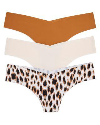 Commando Thongs, Set Of 3 In Nude/cat/caramel