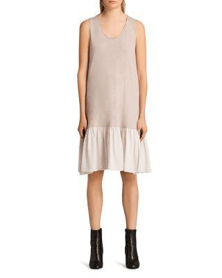 Allsaints Silvia Dress In Rose/ Pale Pink