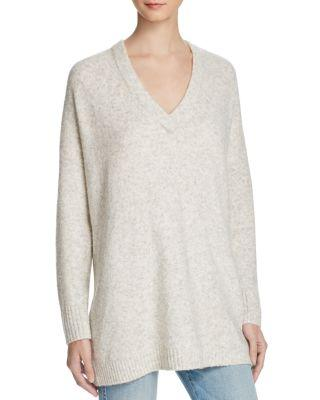 French Connection Weekend Flossie Oversize Sweater In Dove Grey