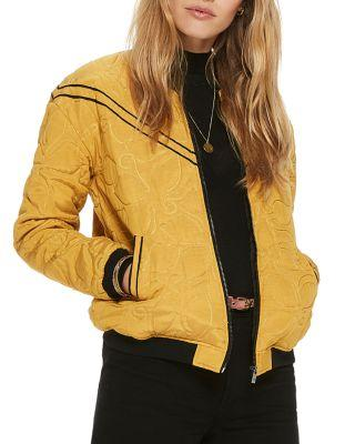 Scotch & Soda Quilted Bomber Jacket In Combo