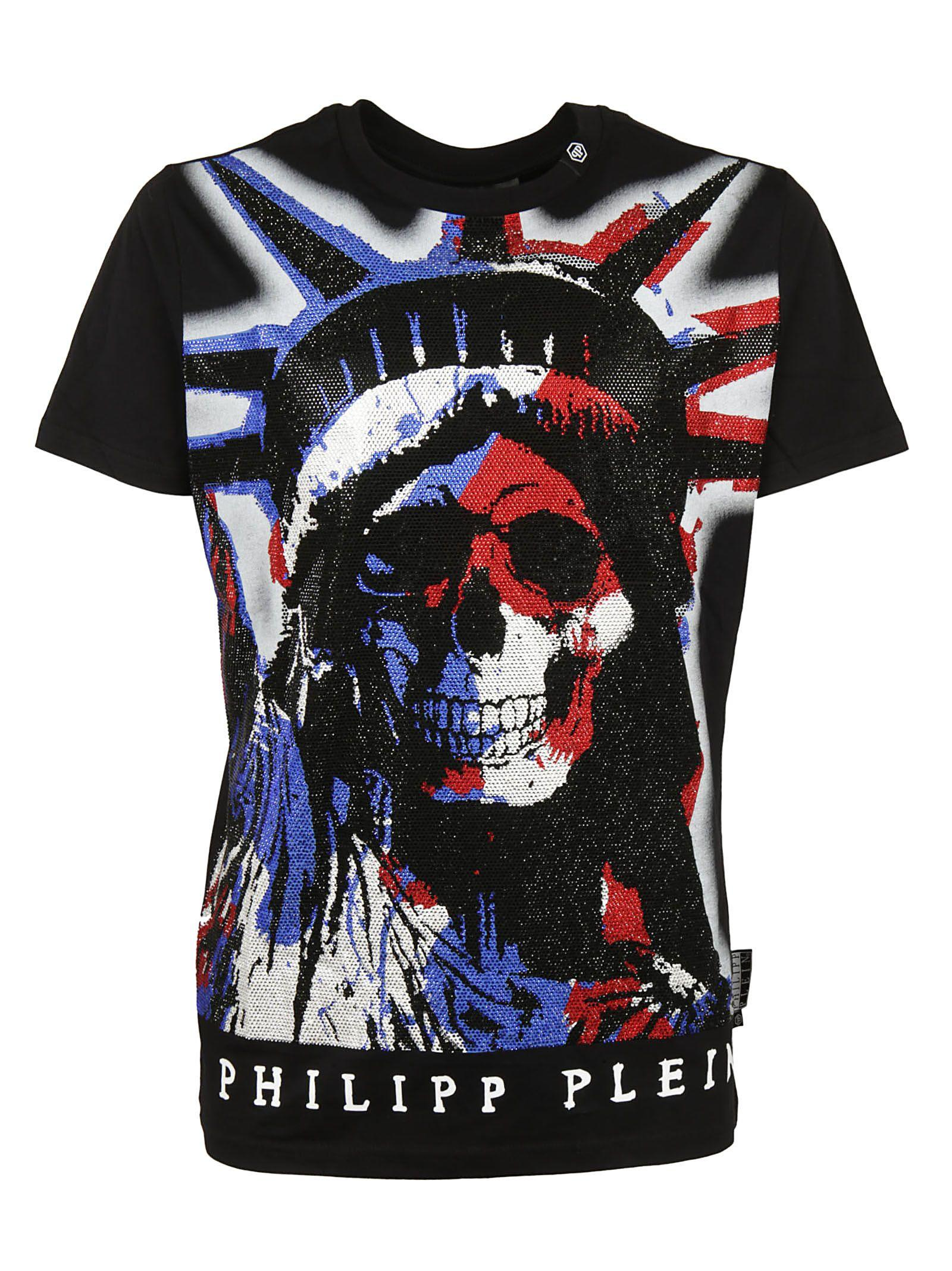 Philipp Plein Printed T-shirt In Black