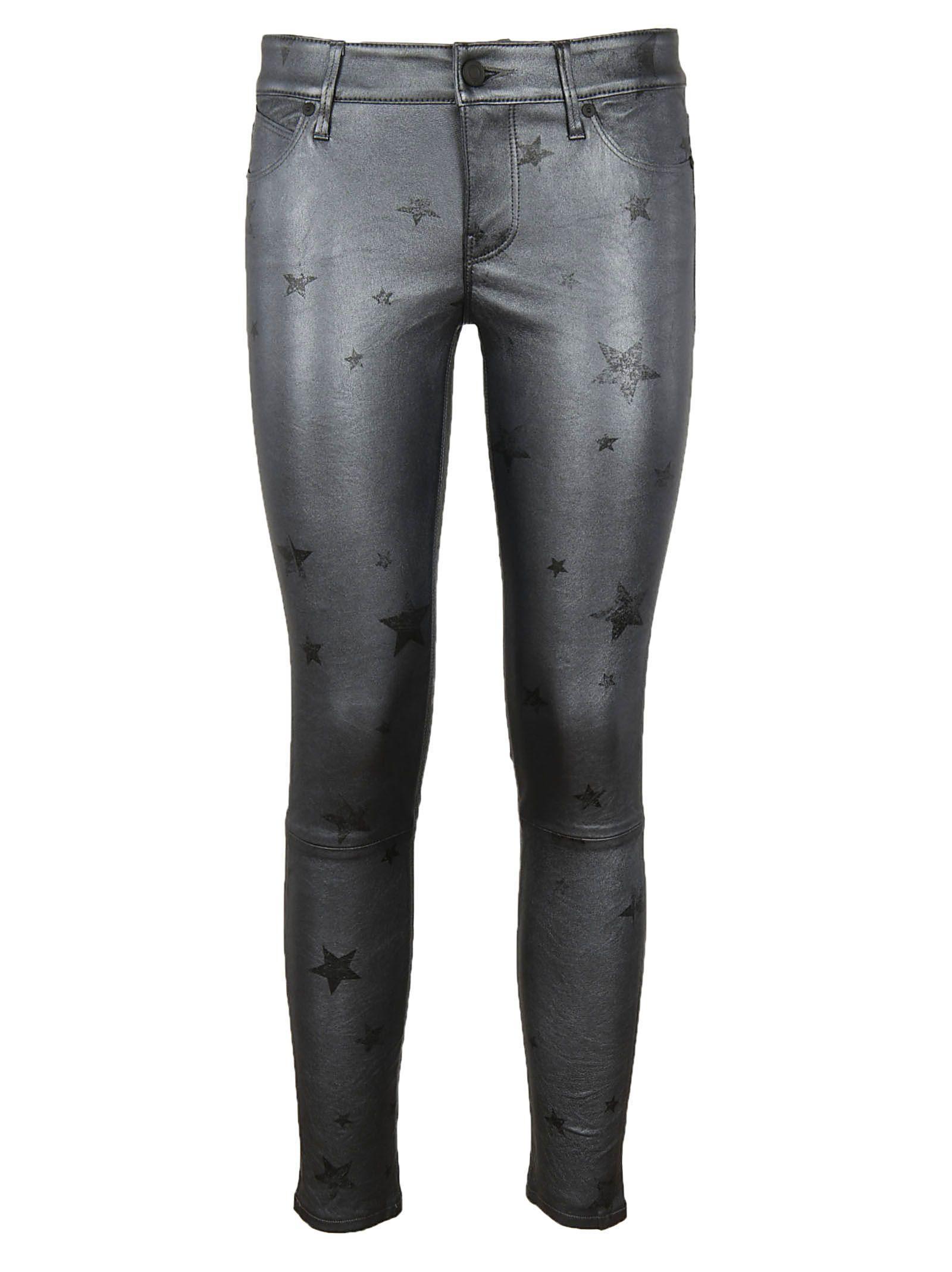 Rta Star Print Trousers In Black