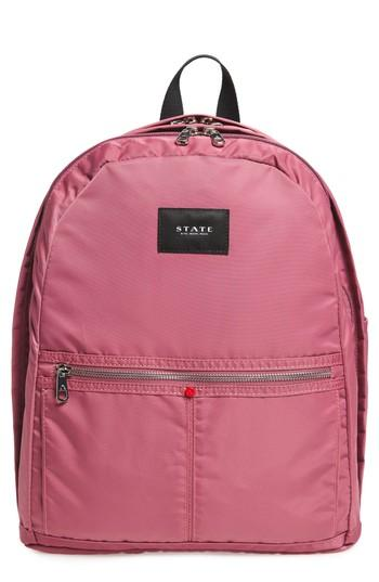 State The Heights Kent Backpack - Red In Red Violet