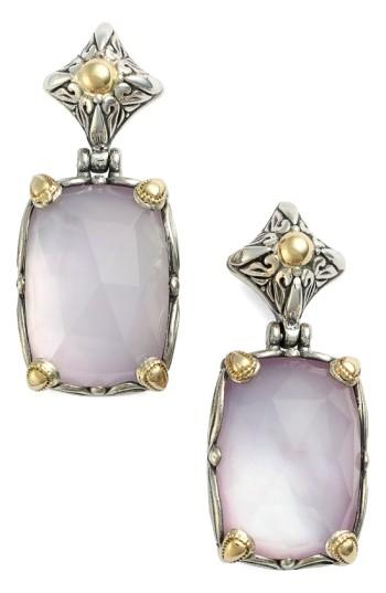 Konstantino 'iliada' Rectangle Double Drop Earrings In Pink
