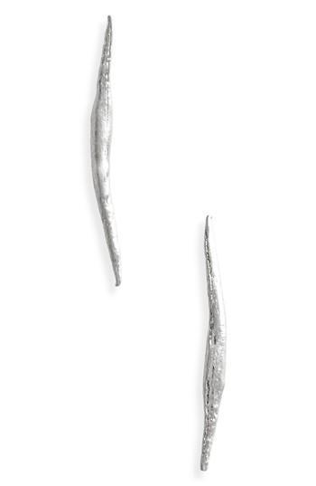 Wwake Stick Wisp Earrings In Sterling Silver