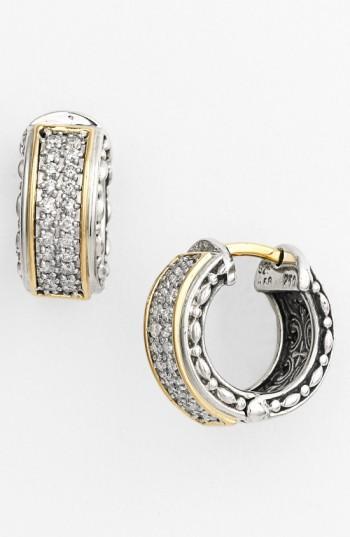 Konstantino 'diamond Classics' Small Hoop Earrings In Silver/ Gold