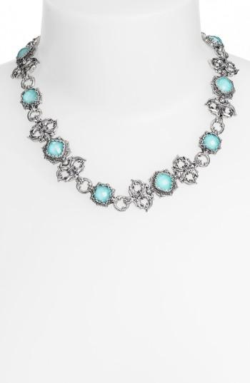 Konstantino 'aegean' Collar Necklace In Silver/ Turquoise