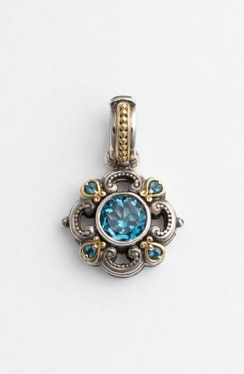 Konstantino 'hermione' Pendant In Silver/ Blue Topaz
