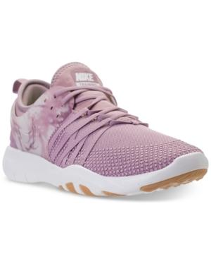 6dc68a3dc42bb Nike Women s Free Tr 7 Training Sneakers From Finish Line In Plum Fog Summit  White