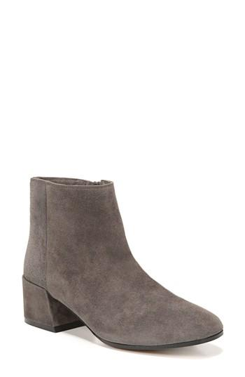 Vince Ostend Bootie In Pewter Suede