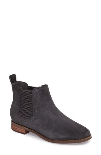 Toms Ella Bootie In Forged Iron Suede
