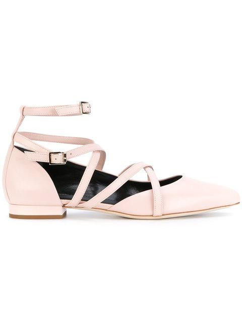 Lanvin Strappy Ballerina Shoes - Neutrals