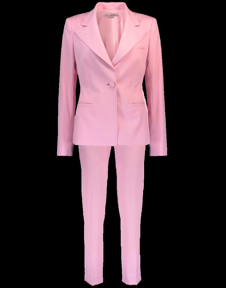 Oscar De La Renta One Button Blazer With Trouser In Rose
