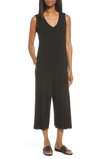 Eileen Fisher Jersey Jumpsuit In Black