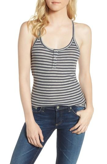 Ag Rima Tank In Blueberry/ Heather Grey