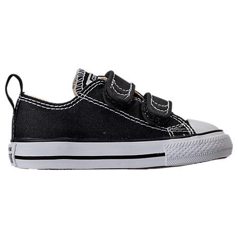 Converse Boys' Toddler Chuck Taylor 2 Strap Ox Casual Shoes, Black