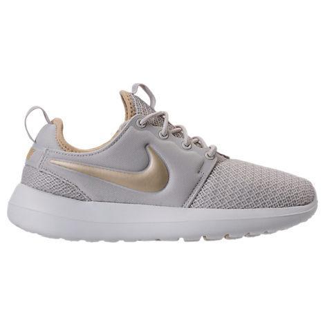 Nike Women's Roshe Two Casual Sneakers From Finish Line In Light Bone/metallic Gold