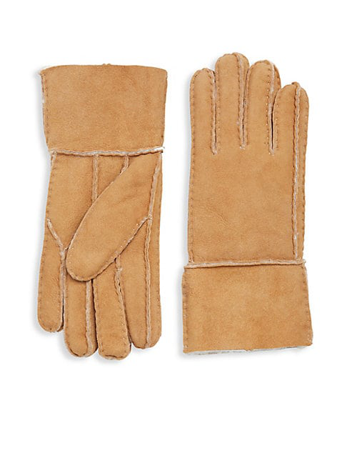 Surell Shearling Gloves In Grey