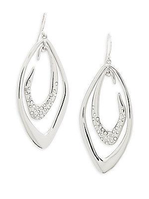 Alexis Bittar Swarovski Crystal Detail Earrings In Silver