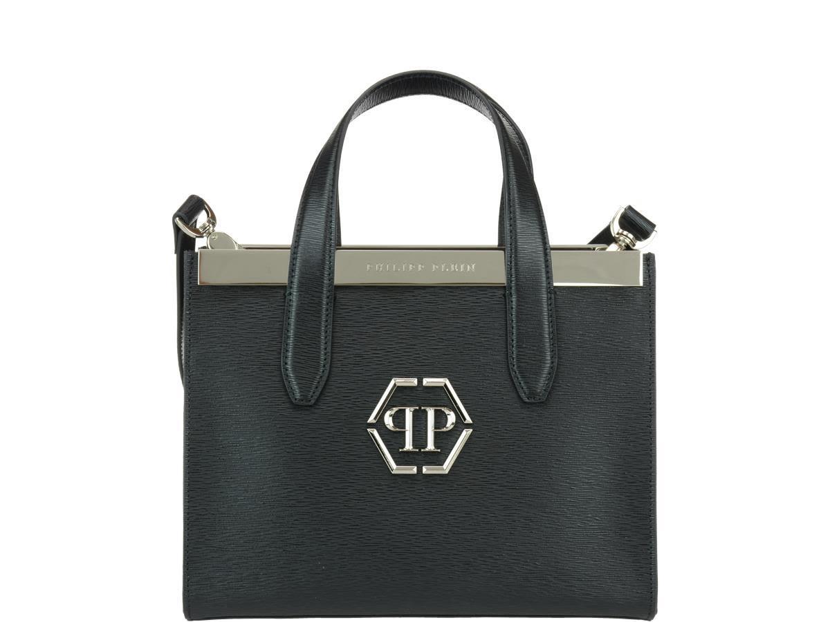 Philipp Plein Addy Hand Bag In Black-nickel