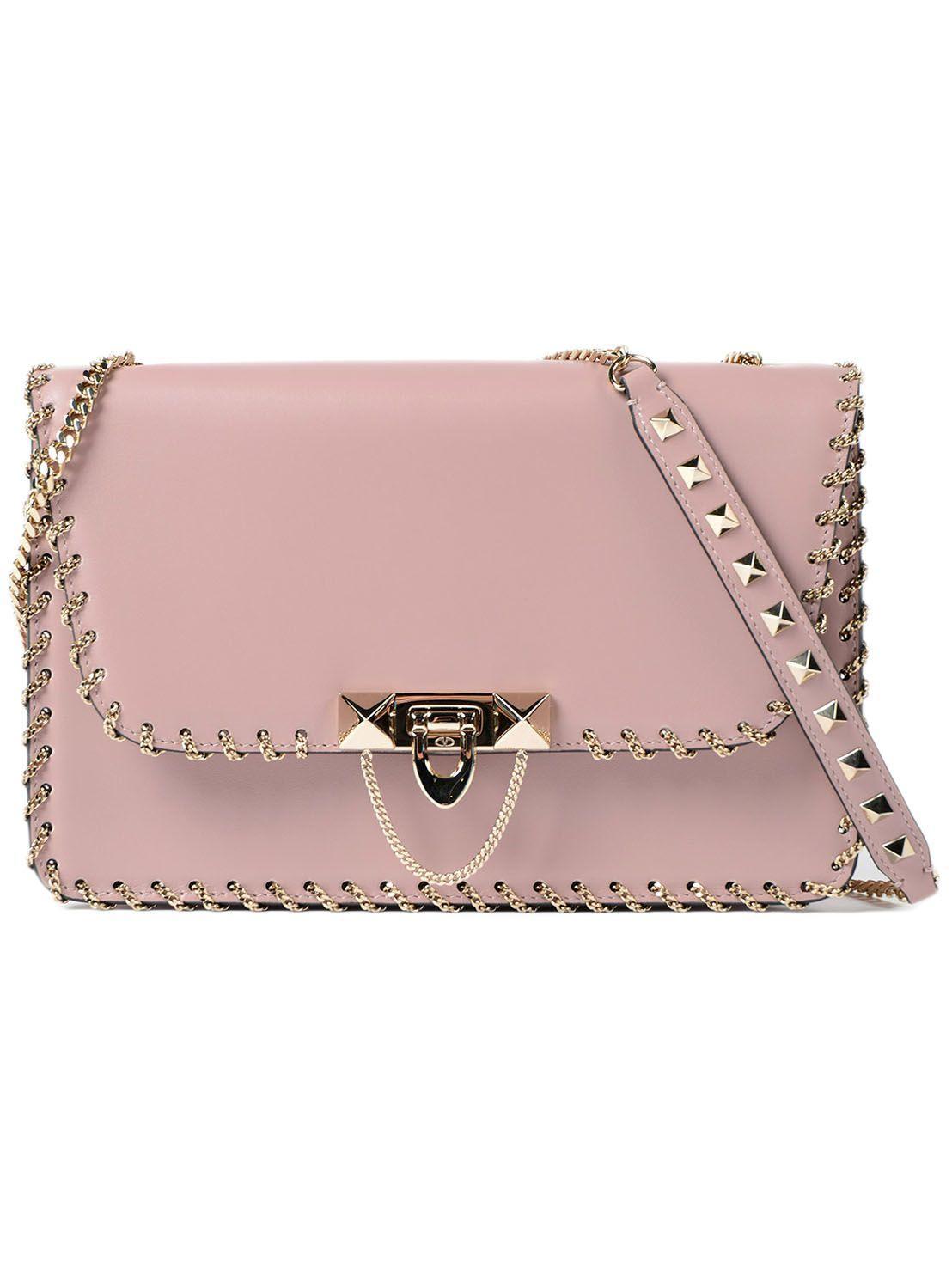 Valentino Garavani W Small Shoulder Bag In Ilipstick