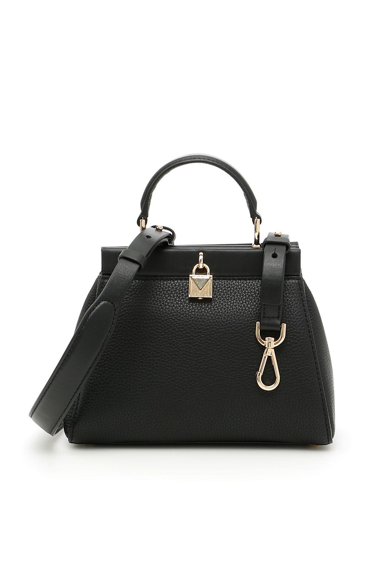 Michael Michael Kors Small Gramercy Frame Bag In Blacknero