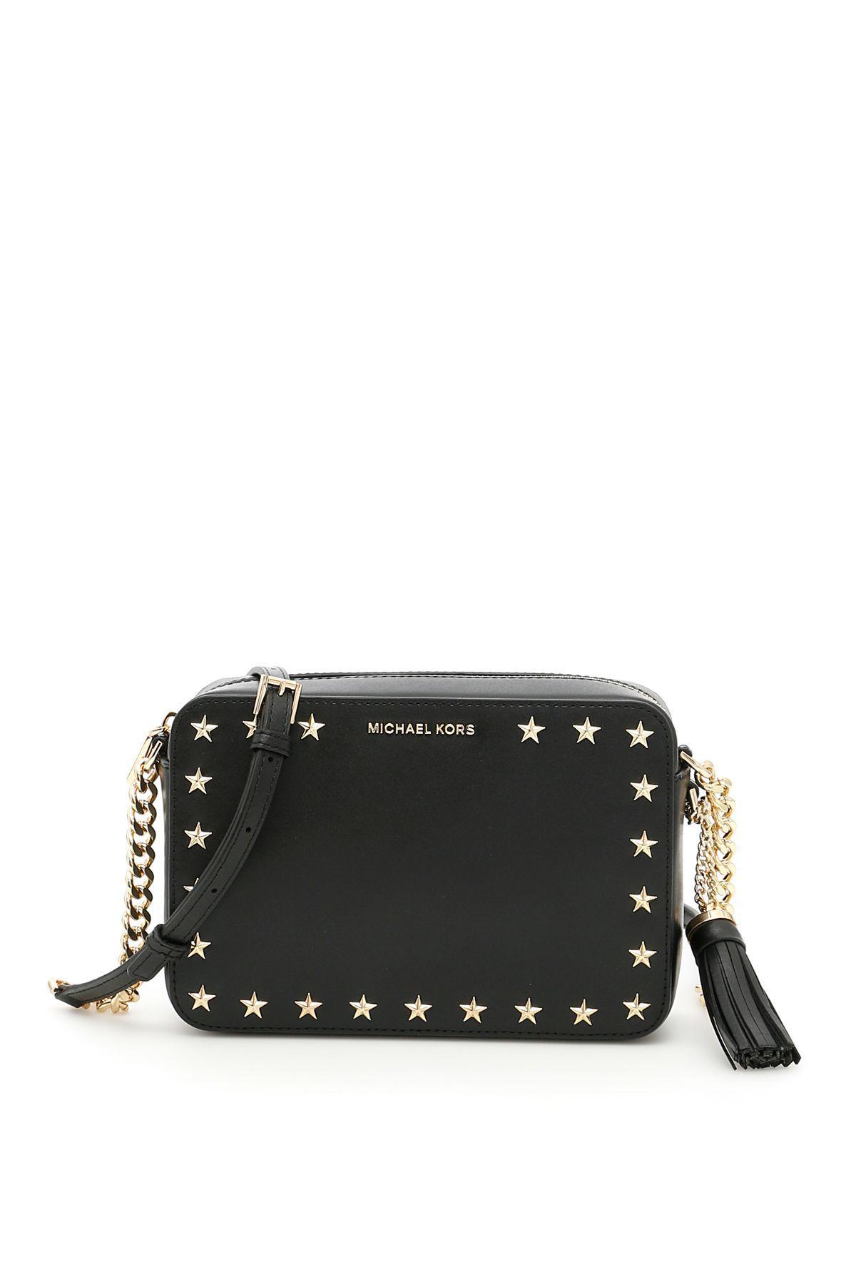 Michael Michael Kors Ginny Camera Bag In Blacknero