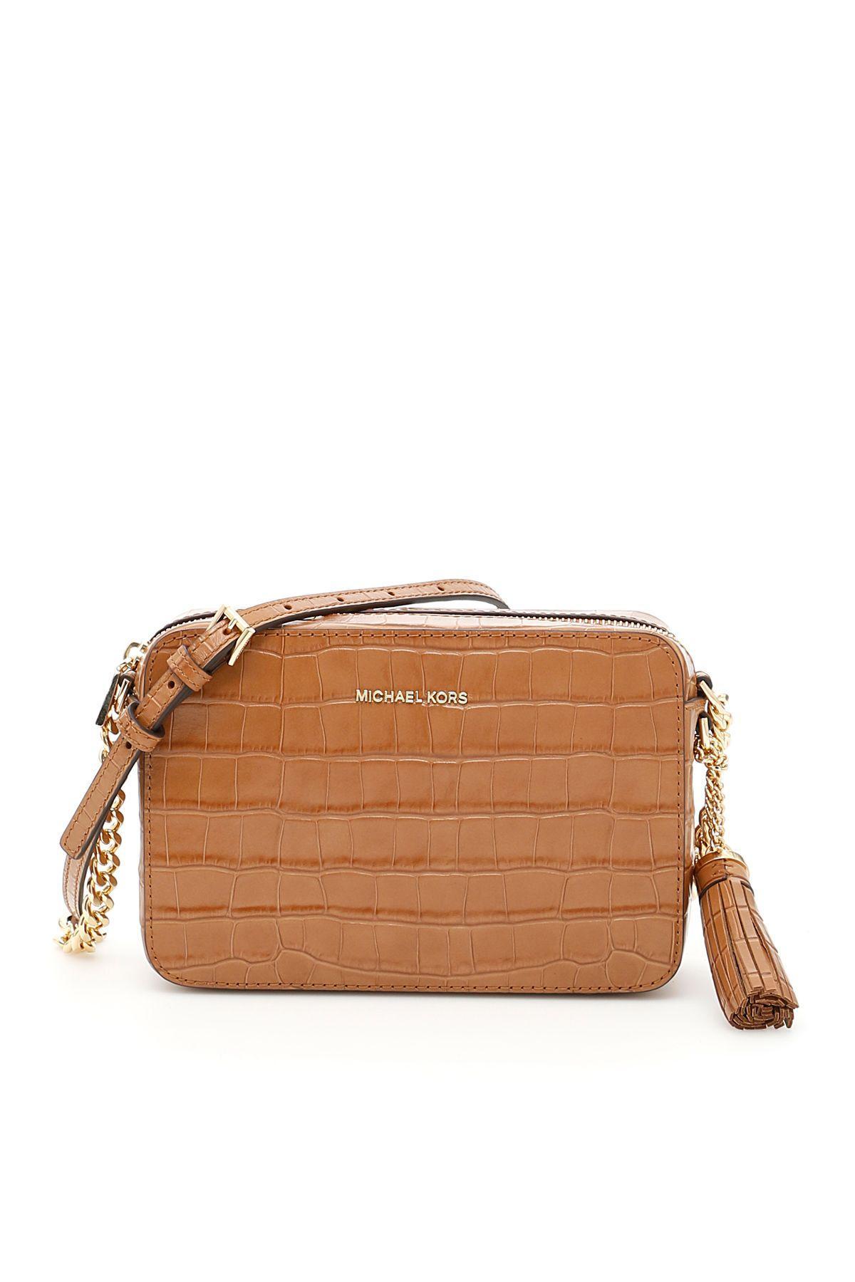 Michael Michael Kors Ginny Crossbody Bag In Acornmarrone