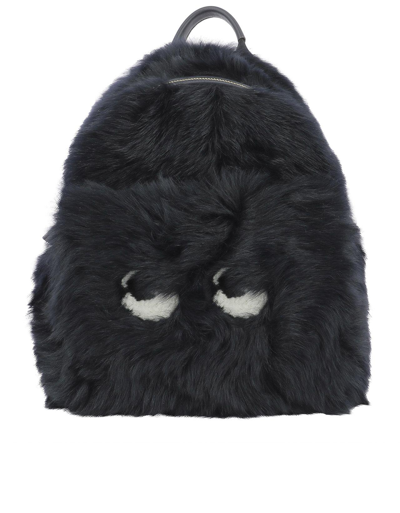 Anya Hindmarch Dark Blue Fur Backpack