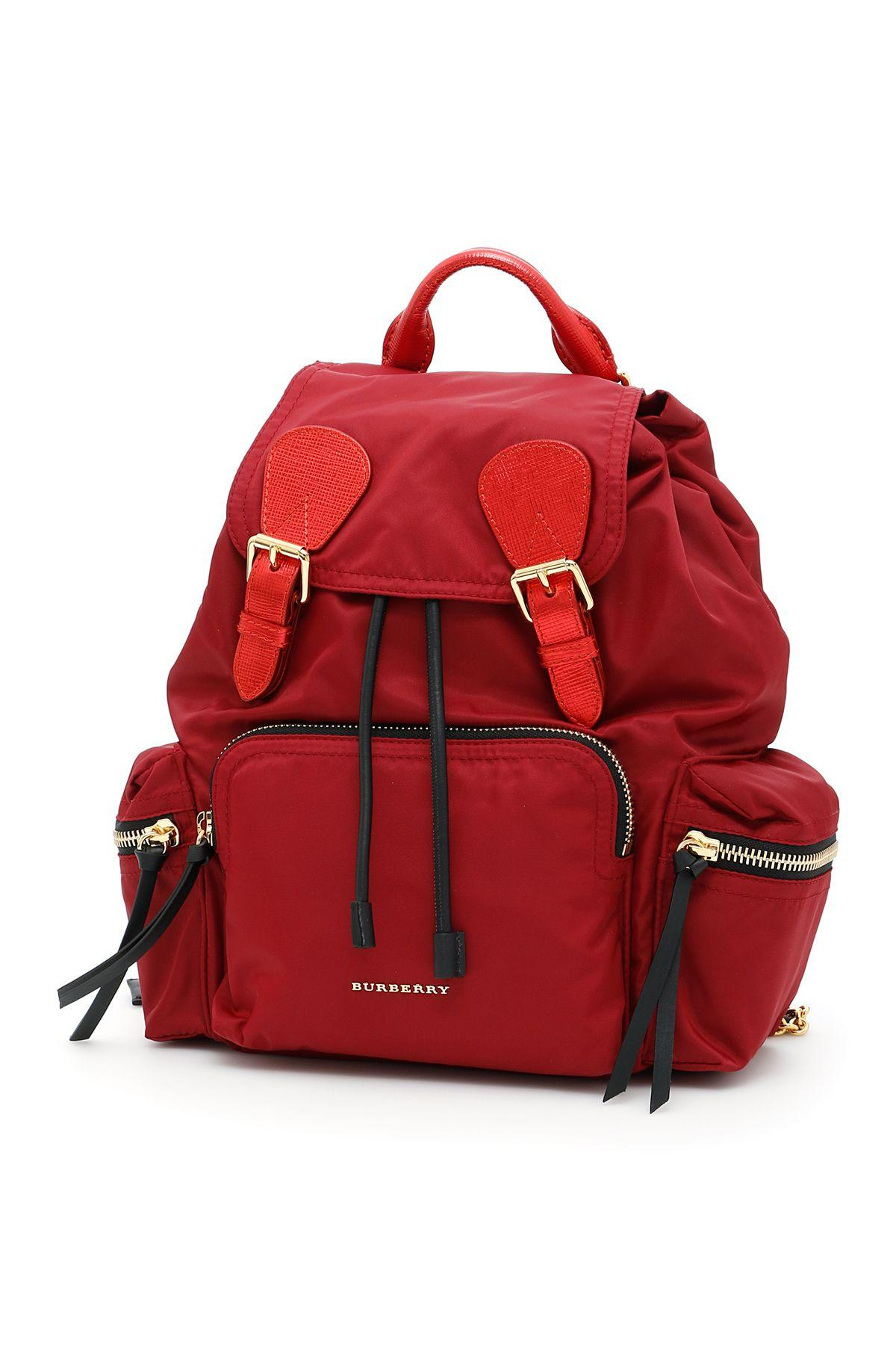 Burberry The Medium Rucksack In Crimson Red-crin Rednero