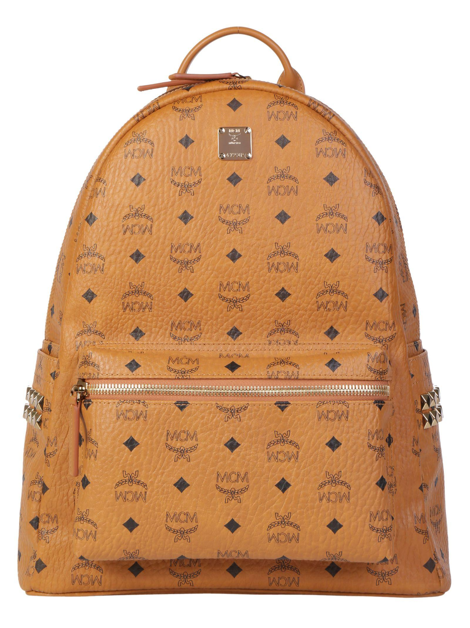 Mcm Start Backpack In Cognac