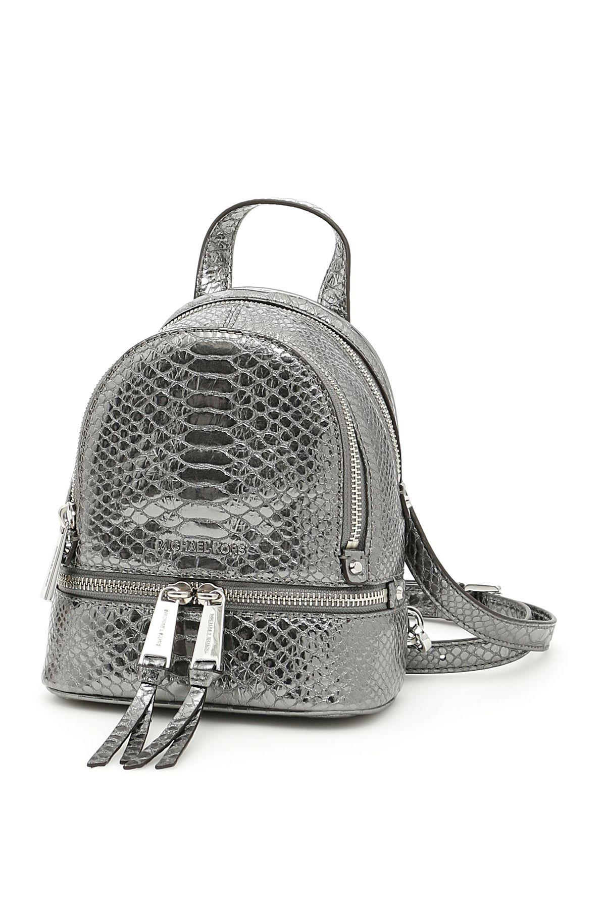 Michael Michael Kors Rhea Extra Small Backpack In Pewtermetallico