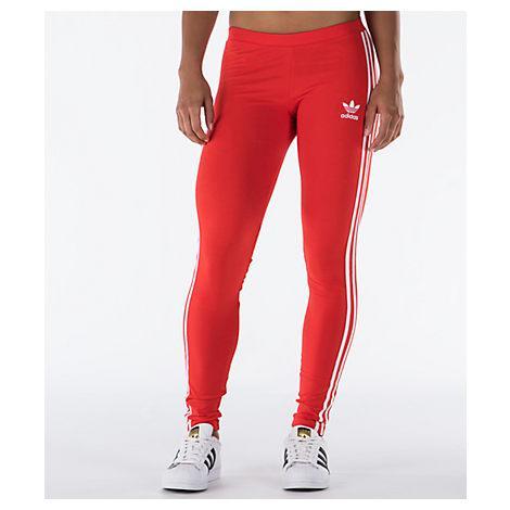 Adidas Originals Women's Originals 3-stripes Leggings, Red