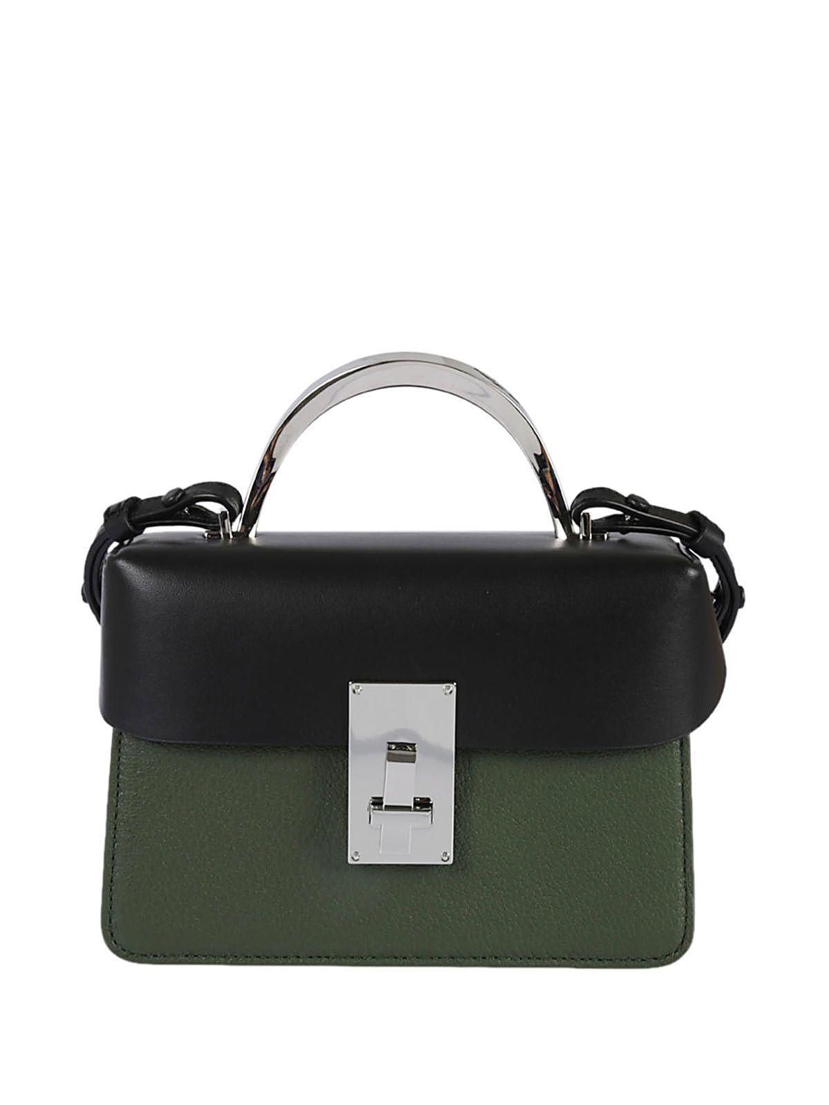 The Volon Accordion Side Shoulder Bag In Nero-verde-rosso